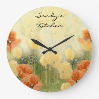 Personalized Poppy Kitchen Clock