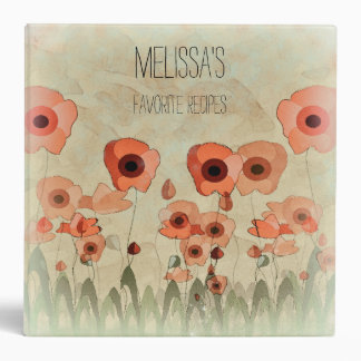Personalized Poppy Recipe Binder