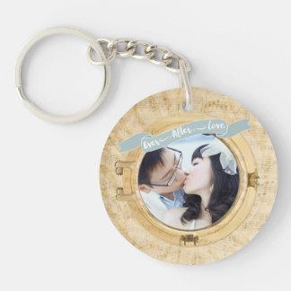 Personalized Porthole Photo Keychain
