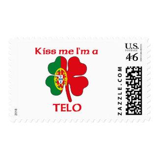Personalized Portuguese Kiss Me I m Telo Stamp