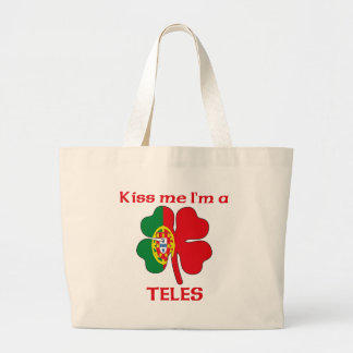 Personalized Portuguese Kiss Me I'm Teles Bags