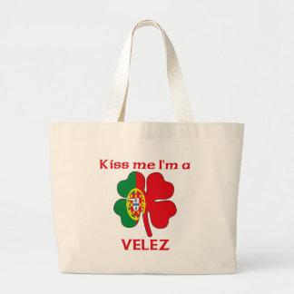 Personalized Portuguese Kiss Me I'm Velez Tote Bag
