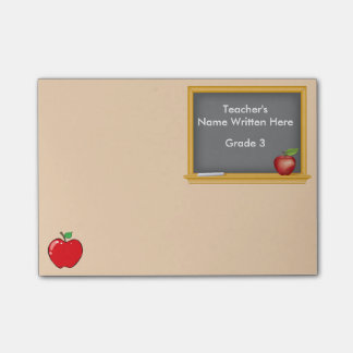 Personalized Post-it Notes - Chalkboard and Apple Post-it® Notes