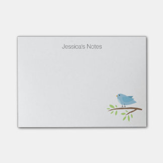 Personalized Post-it® notes with bird illustration