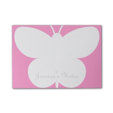 Beach Themed Personalized Post-it® notes with cute butterfly
