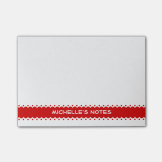 Personalized Post-it® notes with cute red border