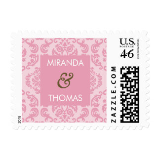 PERSONALIZED POSTAGE STAMP damask colors 9