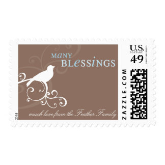 PERSONALIZED POSTAGE STAMP :: whimsicalbird 1