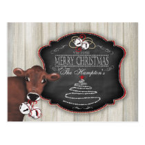 Personalized Postcard Merry Christmas Jingle Bells