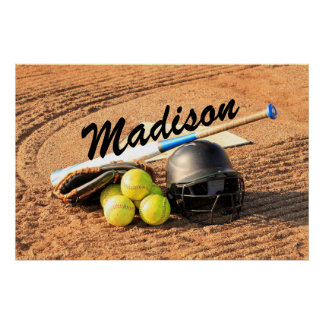 Personalized Poster for Fastpitch Softball Players