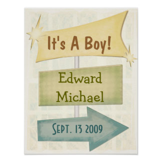 Personalized Poster New Baby / Any Occasion