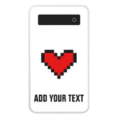Personalized Power Bank Phone Charger With Heart at Zazzle