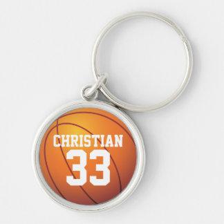 personalized premium Basketball keychain