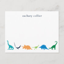 Personalized Preppy Dinosaur Thank You Stationery
