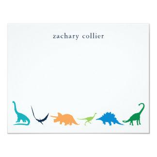 Nautical flat stationery card