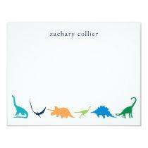 Personalized Preppy Dinosaur Thank You Stationery Invitation