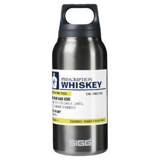 Personalized Prescription Whiskey Insulated Water Bottle