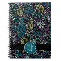 Personalized Pretty as a Peacock Paisley Print Notebook