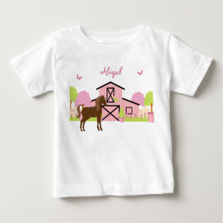 Personalized Pretty Barn & Garden Horse T-Shirt