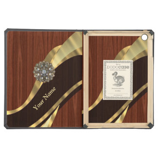 Personalized pretty faux cherry wood iPad air covers