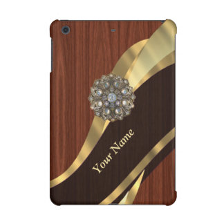 Personalized pretty faux cherry wood iPad mini retina cover