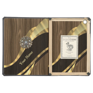 Personalized pretty faux wood case for iPad air