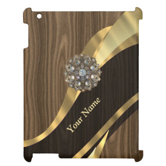 Personalized pretty faux wood cover for the iPad
