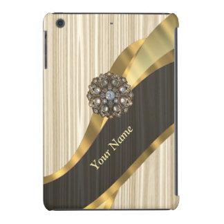 Personalized pretty faux wooden iPad mini retina cover