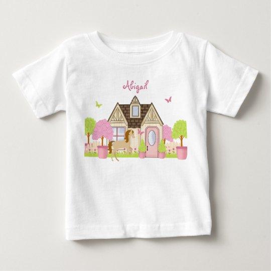 Personalized Pretty Garden Horse Long Sleeve Shirt