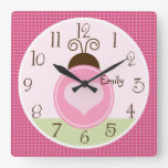 Personalized Pretty Ladybug with dots Clock