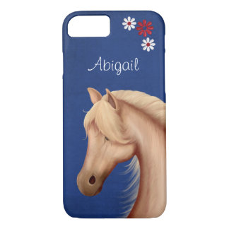 Personalized Pretty Palomino Horse iPhone 7 Case