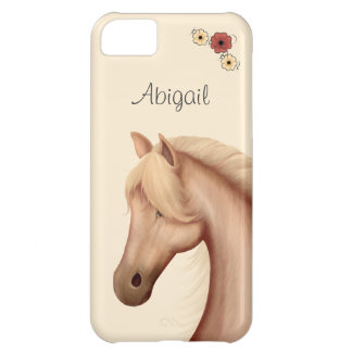 Personalized Pretty Palomino Horse iPhone Case