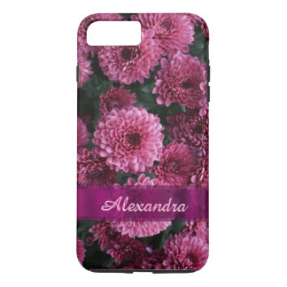Personalized pretty pink Chrysanthemum  flower iPhone 8 Plus/7 Plus Case