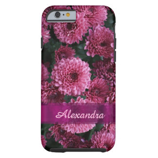 Personalized pretty pink Chrysanthemum  flower Tough iPhone 6 Case