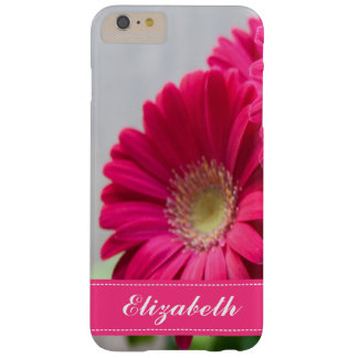 Personalized Pretty Pink Flower Barely There iPhone 6 Plus Case