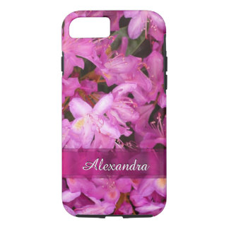 Personalized pretty pink flower photograph iPhone 7 case