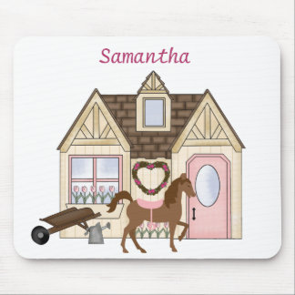 Personalized Pretty Ponies House Horse Mousepad