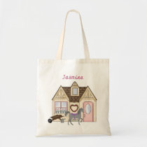 Personalized Pretty Ponies House Horse Tote Bag