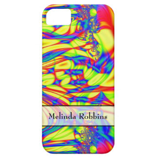 Personalized pretty yellow red blue abstract iPhone SE/5/5s case