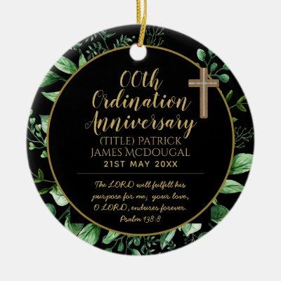 Personalized Priest Ordination Anniversary Gift Ceramic Ornament