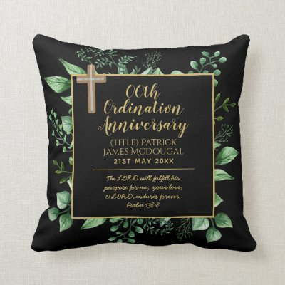 Personalized Priest Ordination Anniversary Pillow