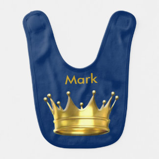Personalized Prince Crown Baby Bib
