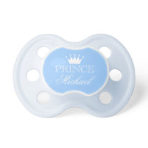 Personalized prince pacifier with name and crown