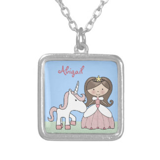Personalized Princess and Unicorn Necklace