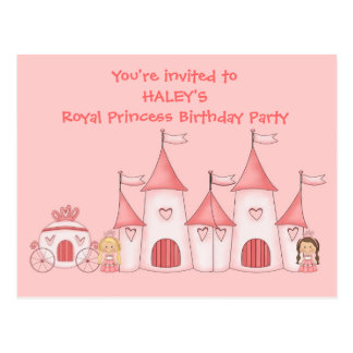 Personalized Princess birthday party invitations Postcard