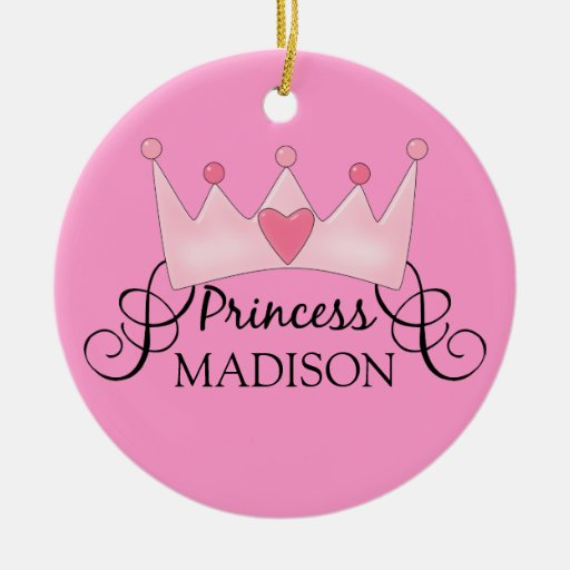 Personalized Princess Christmas Ornament
