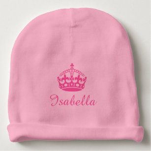 Personalized princess crown girls baby beanie hat db1ce652ee9