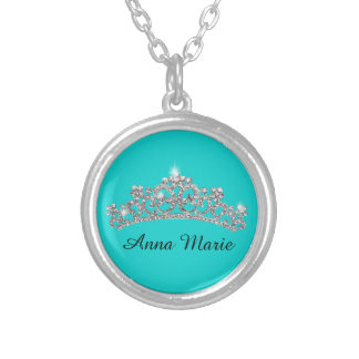 Personalized Princess Crown Necklace