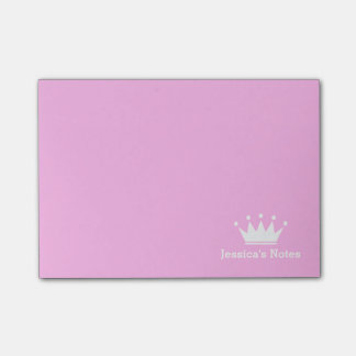 Personalized princess crown pink Post-it® notes