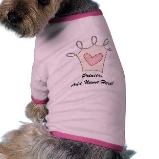 Personalized Princess Dog T-shirt petshirt